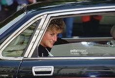 September 17 1992 Princess Diana arrives at the headquarters of the Red Cross organization in London