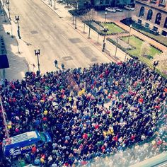 moment of silence observed on boylston  : Lyndon Byers - FB