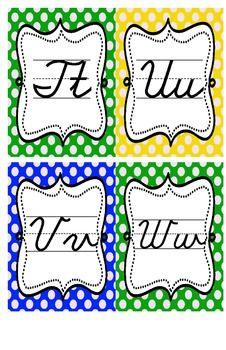 Cursive Alphabet (Polka Dots) by Mario Marzullo Cursive Alphabet, Study Habits, Penmanship, Lower Case Letters, Teacher Newsletter, Lowercase A, Bee, Polka Dots, Classroom