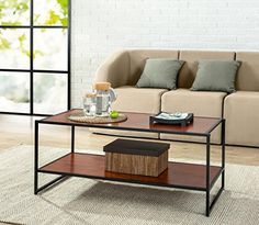 The Zinus Modern Studio Collection is an ideal combination of function and style. The Deluxe Rectangular Coffee Table is functional in your main living space as a coffee table or to hold various item...