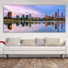 Πανοραμικός πίνακας σε καμβά City sunset