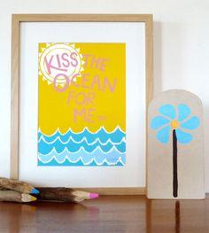 Image of Kiss The Ocean Art Print
