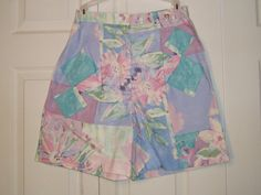 Vintage 1980's Floral High Waist Shorts by LuLusVintageMart, $10.00