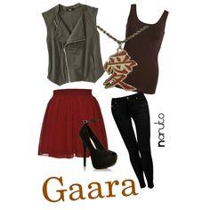 """Gaara, from Naruto"" by blackrabbitmegapig on Polyvore"