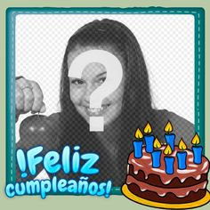 Fotomontaje para hacer una postal de felicitación gratuita - Fotoefectos Funny Happy Birthday Images, Birthday Frames, Gifs, Frases, Happy Birthday Grandson, Happy Birthday Photos, Hipster Stuff, Birthday Congratulations, Presents