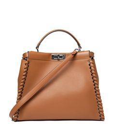 Fendi Large Cognac Peekaboo Bag