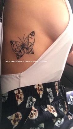 minha tattoo / tatuagem costela borboleta / butterfly feminina