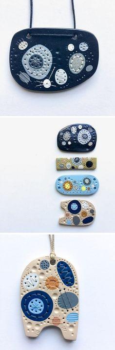 Colorful Pendants by Heidi Helyard