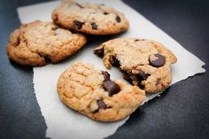 Brown Butter and Bacon Dark Chocolate Chip Cookies...  yes that says BACON!!!! :)