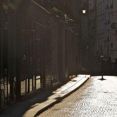Paris at twilight by Little Brown Pen.