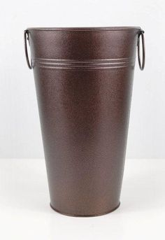 Flower Market Buckets Brown Metal 11 in.