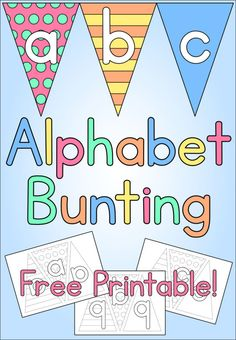 Alphabet Bunting - Free Printable - Kids Crafts - Learning Letters