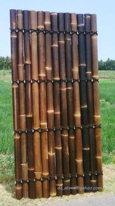 Crafts - Natural Bamboo Fence Yogyakarta, Indonesia