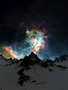 Aurora borealis  lights in Alaska.  One of my bucket list things to see for sure!