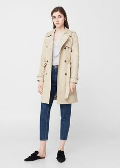 Classic cotton trench coat | MANGO #RaincoatsForWomenCotton