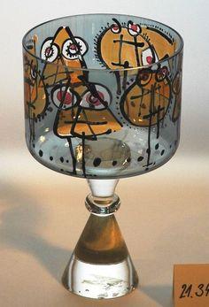 Wine Glass, Glass Art, Illustration Art, Illustrations, Glass Design, Czech Glass, Table Lamp, Bohemian, Gallery