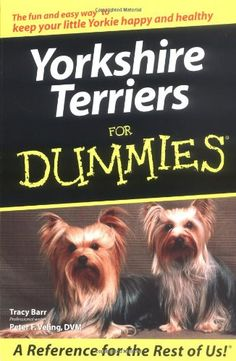 Yorkshire Terriers For Dummies by Tracy Barr,http://www.amazon.com/dp/0764568809/ref=cm_sw_r_pi_dp_QgzXsb1WJVG2C6ZT
