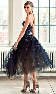Black tie wedding | black bridesmids dress
