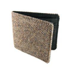 reclaimed tweed wallet from Jetsam