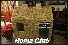 The Momz Club - Wine Cork Club House |wine crafts| |Funny crafts|