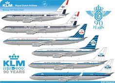 klm 90 years