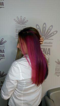 Цветные волосы!