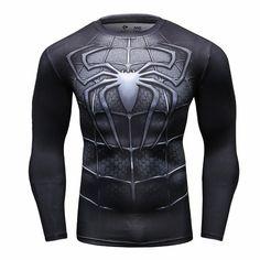 Spiderman T Shirt Men Fitness