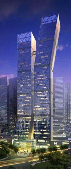Eton Shenyang Center, Shenyang, China by NBBJ Architects :: 97 floors, height 384m, proposal