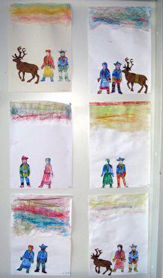 Lapin talvi www.kolumbus.fi/mm.salo Art Projects, Winter, Rabbits, Winter Time, Winter Fashion, Art Designs
