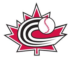 Canada  Primary Logo (2006) - A black 'C' acting as a streak behind a baseball on a red maple leaf