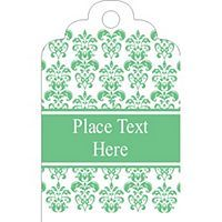 Free Avery® Templates - Wedding Green Floral Toile Printable Tag - Tall. 18 per sheet