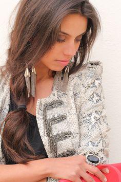 Jacket and earrings