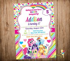 My Little Pony Invitations Google Search Vanna Party - My little pony birthday party invitation template
