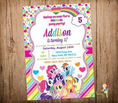Hey, I found this really awesome Etsy listing at https://www.etsy.com/listing/229950133/my-little-pony-birthday-invitation-my