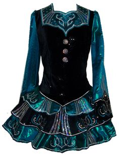 Irish dance dress. I like the style and colors!!