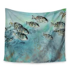 "East Urban Home Surf Perch by Josh Serafin Wall Tapestry Size: 50"" H x 60"" W"