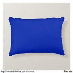 Royal blue solid color accent pillow Soft Pillows, Accent Pillows, Decorative Throw Pillows, Blue Ombre, Aqua Blue, Cobalt Blue, Bright Yellow, Color Blue, Pink