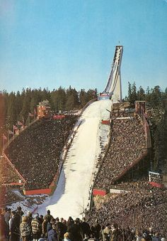 The Holmenkollen ski jump in Oslo, Norway. There have been ski competitions here since 1892. The hill has been rebuilt 19 times; important upgrades include a stone take-off in 1910, an in-run superstructure in 1914, and a new superstructure in 1928. During the Second World War, the venue was used as a military installation, but upgraded in the late 1940s. Further expansions were made ahead of the 1966 and 1982 World Championships, as well as in 1991. Between 2008 and 2010, the entire…