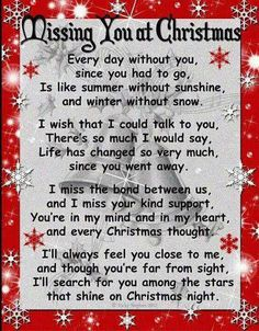 A sweet poem for my sweet grandma. I'll be missing her more this year at Christmas.