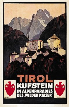 Vintage Banner, Vintage Art, Vintage Travel Posters, Retro Posters, Wilder Kaiser, Harry Potter Poster, Tourism Poster, Travel Ads, Art Graphique