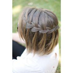 Short Cut Saturday Braids for short hair HAIR ROMANCE ❤ liked on Polyvore