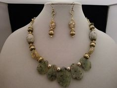 This came out looking very good. Made up of green agate stone and