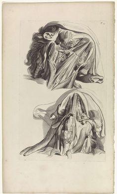 Pieter van Gunst | Anatomische studie van de hals en de kaak, Pieter van Gunst, Gerard de Lairesse, weduwe Joannes van Someren, 1685 | Anatomische studie van de spieren van de hals en de kaak. Bovenaan rechts genummerd T. 15.