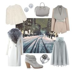 """Snowflake"" by molnar-eszter on Polyvore featuring Diane Von Furstenberg, Oasis, rag & bone, Burberry, Givenchy and Kobelli"