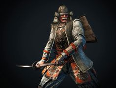 Kensei Class for the Samurai of the Dawn Empire of the Myre from Ubisofts For Honor. Kabuto Samurai, Samurai Weapons, Samurai Art, Samurai Warrior, For Honor Samurai, The Last Samurai, For Honor Gameplay, Ninja, Deadliest Warrior
