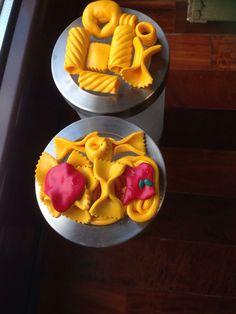 contenitori per la pasta con decorazione in fimo