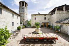 Perugia Italy vacation rental with stone walls