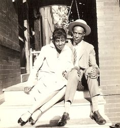 Cute Couple Dressed up and Sitting Porch Steps