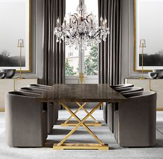 Dining Room - Luxury Furniture and Lighting Luxury Dining Tables, Luxury Dining Room, Remodeling Mobile Homes, Home Remodeling, Round Chandelier, Entry Chandelier, Bedroom Chandeliers, Room Interior, Interior Design