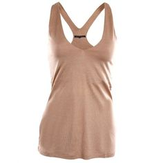 French Connection Womens Beige Camille Drape Top ($36) ❤ liked on Polyvore